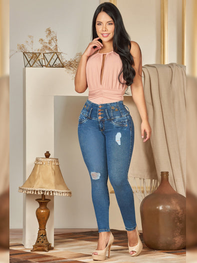 'Libra' Butt Lift Levanta Cola Jeans 12400