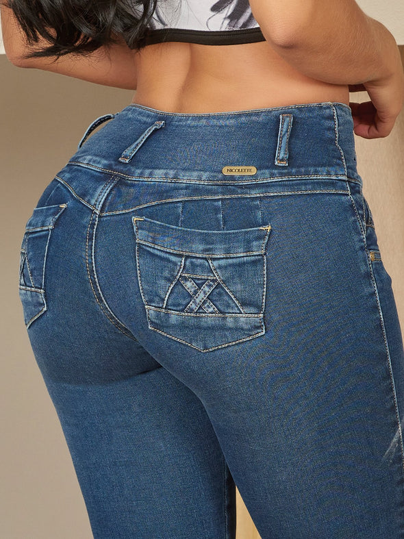 'Sally' Butt Lift Levanta Cola Jeans 12404