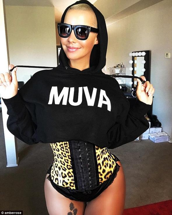 Amber Rose Waist Trainer Leopard Style 2024