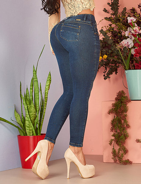 close up butt lifting colombian jeans dark skinny denim with nude heels