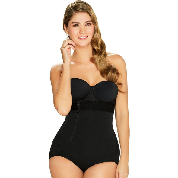 Postpartum Bodysuit Strapless Shaper w/ Side Zipper Diane & Geordi 2405