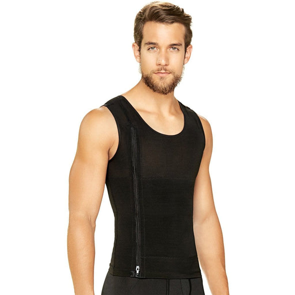 Men's slimming vest w/ zipper Diane & Geordi 2415