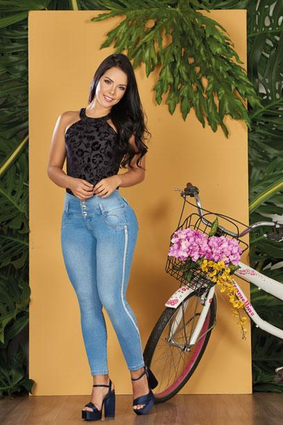 'Sporty' Push Up Jeans Levanta Cola 10554