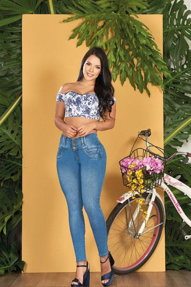 """Lily"" Push up Jeans Levanta Cola 10556"
