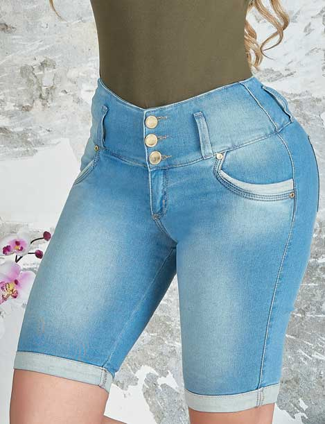 'Rosie' Push Up Capri Jeans Levanta Cola 10849