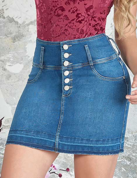 denim skirt with a lot of buttons up close colombian jeans but tlifter
