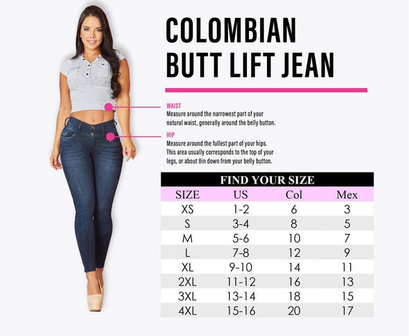 'Jess' Colombian Push Up Jeans Cheviotto 11202