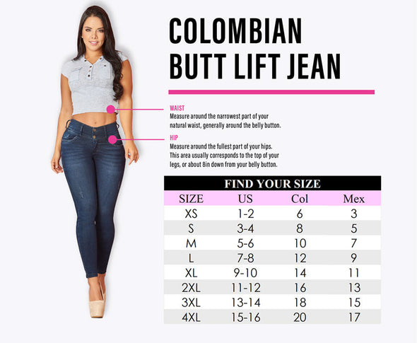 'Valentine' Colombian Push Up Jeans 11055