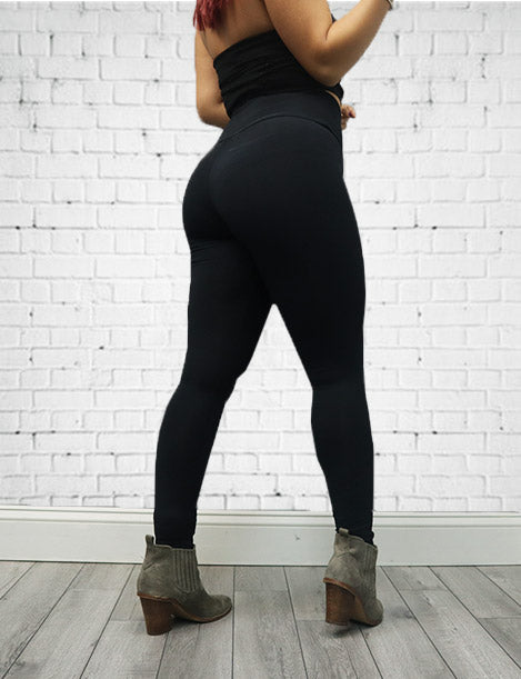 Classic Black Tummy Control NS Leggings L020