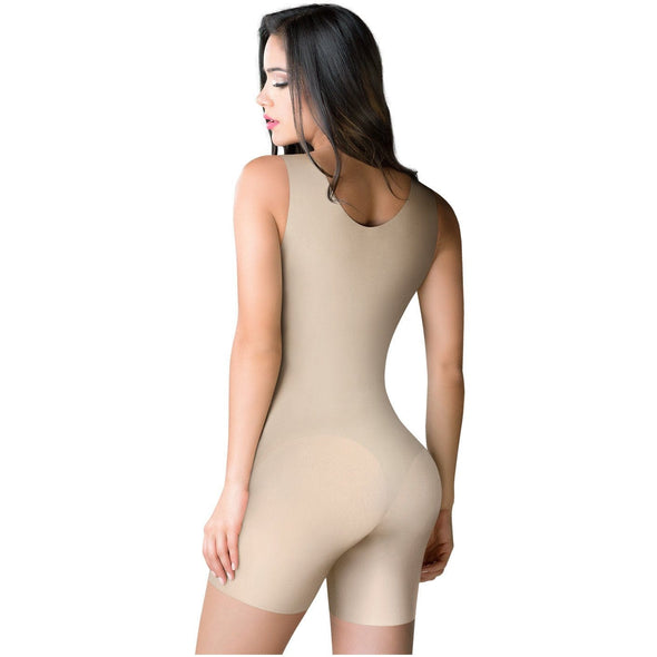 ROMANZA 2033 | Women Tummy Control Shapewear  | Open Bust & Mid Thigh - Pal Negocio