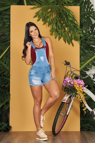 """Country"" Push up Overall Jeans Levanta Cola 10726"