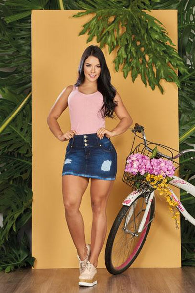 'Daisy' Push Up Skirt Jeans Levanta Cola 10730