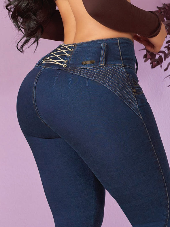 up close view corset jeans