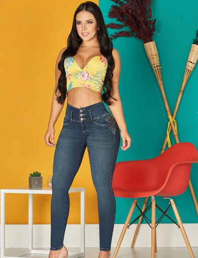 'Perfect' Push Up Levanta Cola Jeans 10956