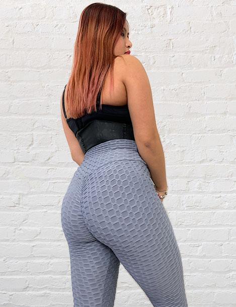 'Bootylicious' Textured Butt Lift Leggings w/ Scrunch Booty (4 Colors)