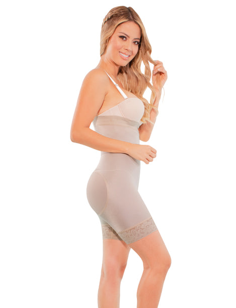 medium compression hourglass tummy compression body shaper with butt lifter