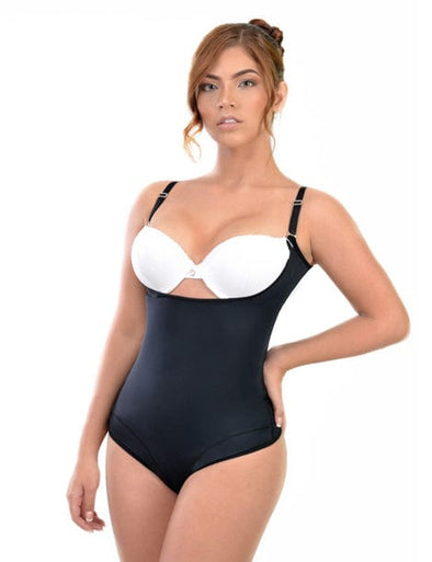 bodysuit shapewear thong black medium compression