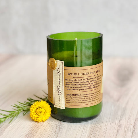 Hand-Cut Wine Bottle Candles