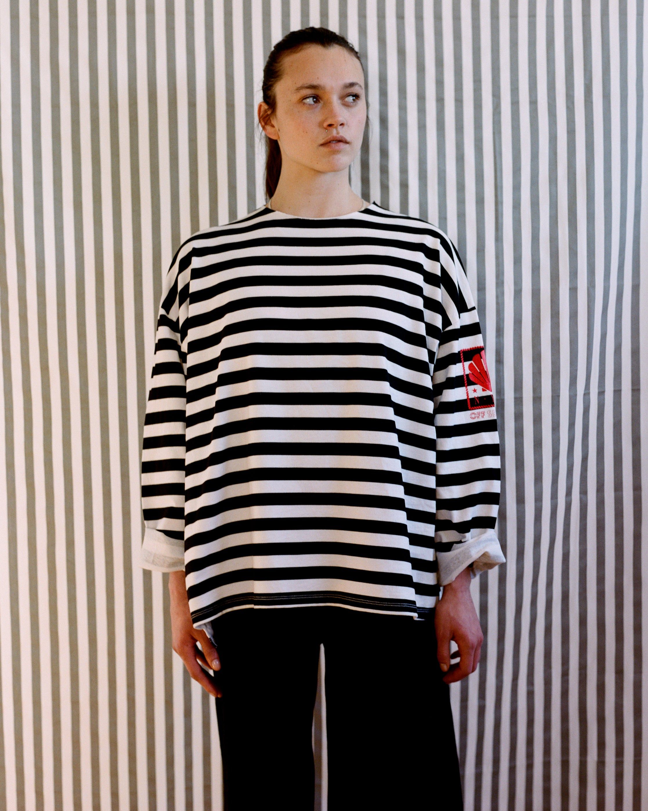 Token Pull Over B+W Stripe Jersey