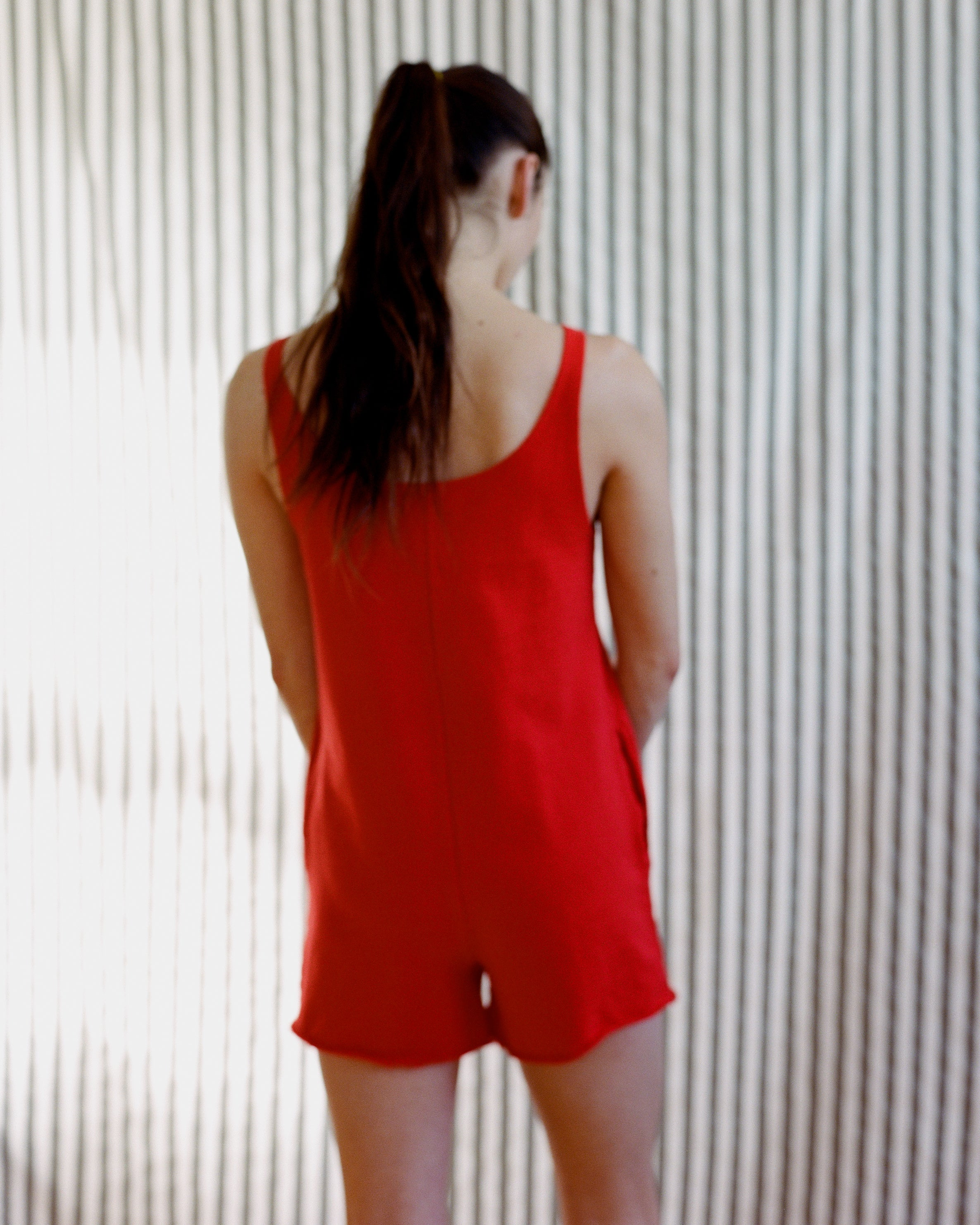 Memento Shortsuit Red French Terry
