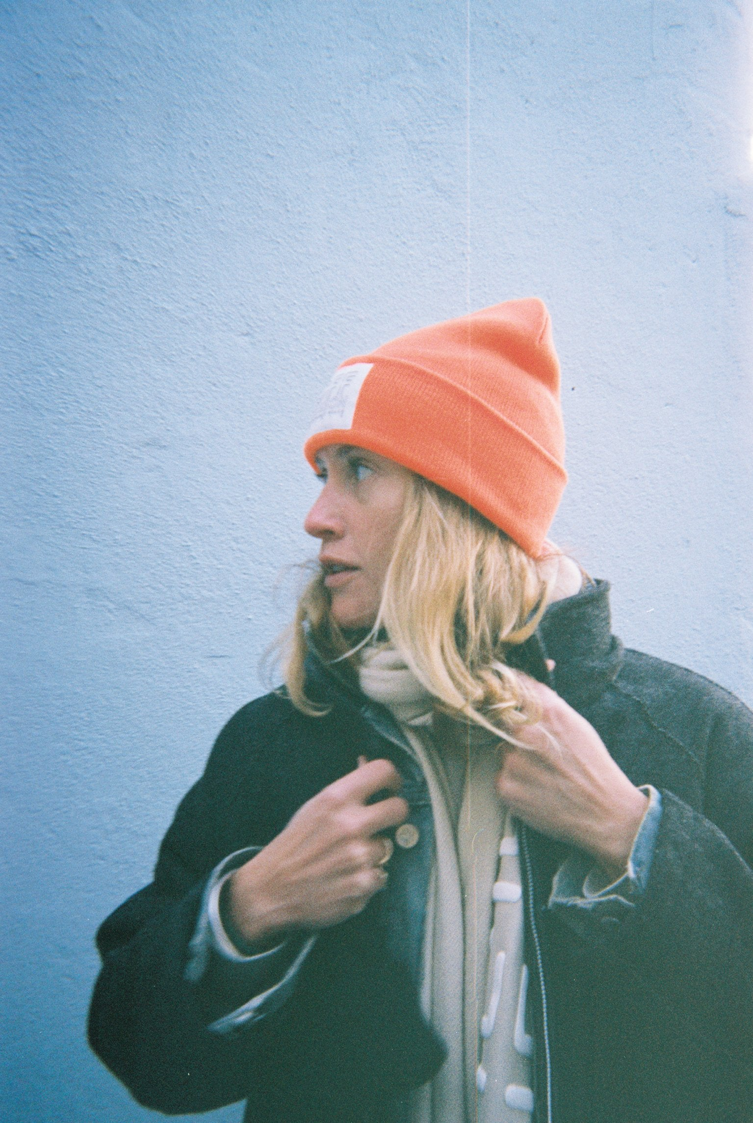 Knit Beanie Safety Orange