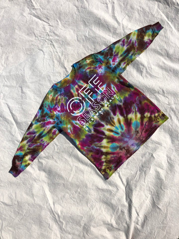 Youth Tie Dye Top #8 (size S)