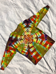 Youth Tie Dye Top #11 (size S)