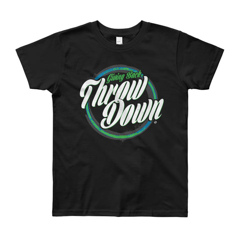 Giving Back Throwdown Youth Short Sleeve T-Shirt w/ Box Logos