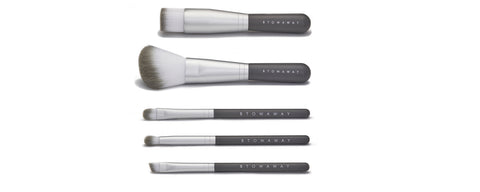 Hero- 5 Piece Travel Makeup Brush Set Stowaway Cosmetics