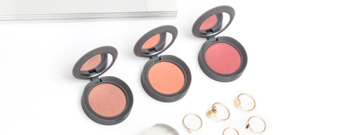 Hero- Mini Travel Size Pressed Powder Blush Coral Pink and Fawn
