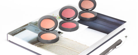 Hero- Mini Travel Size Pressed Powder Makeup Blush Coral Pink and Fawn