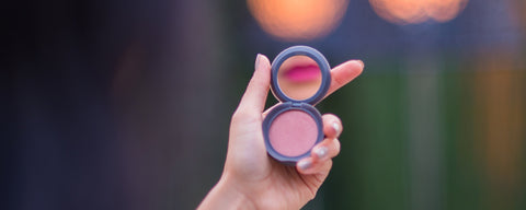 Hero- Touching Up With Travel Sized Makeup Powder Blush