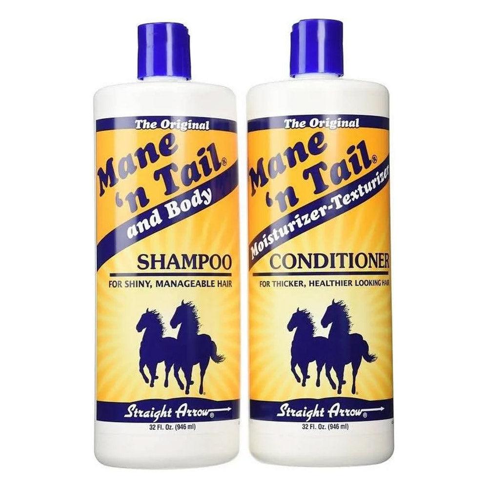 New Mane 'N Tail Hair Shampoo and Conditioner 32 oz Combo Pack