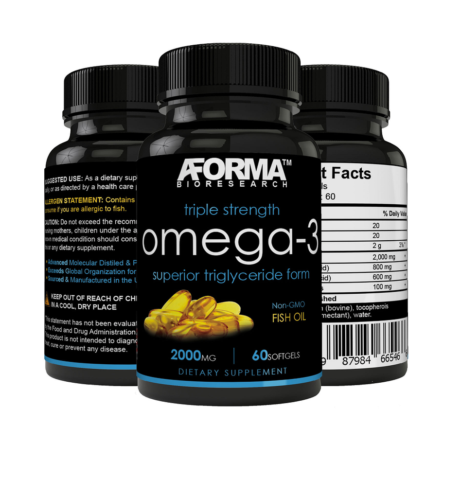 Ultra Fish Oil Omega-3 2000mg Supplement 800 EPA + 600 DHA High Potency