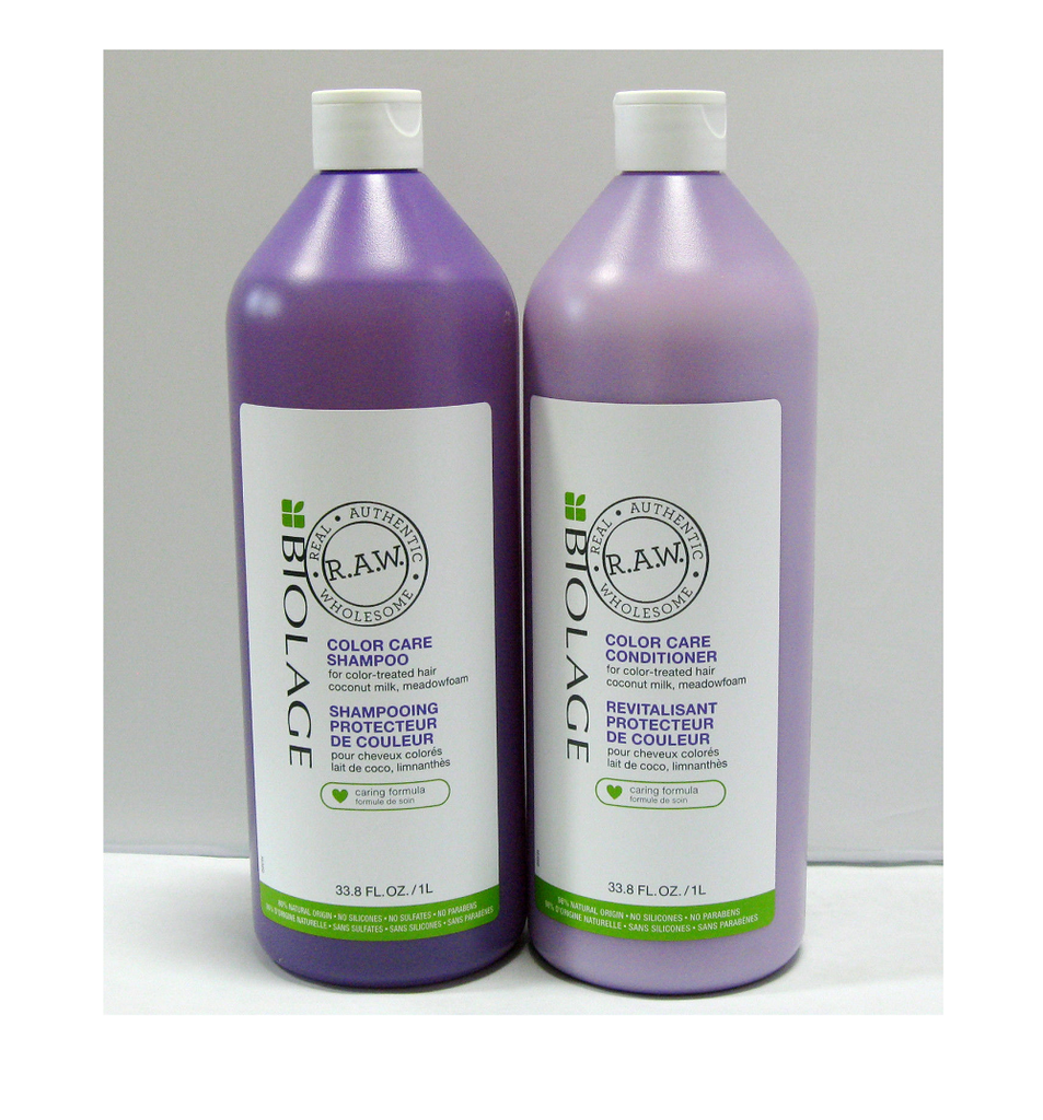 Matrix RAW Color Care Shampoo Conditioner 33.8 oz Liter Set Duo PACK