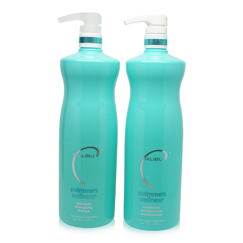 Malibu C  Swimmers Wellness Shampoo & Conditioner 33.8oz