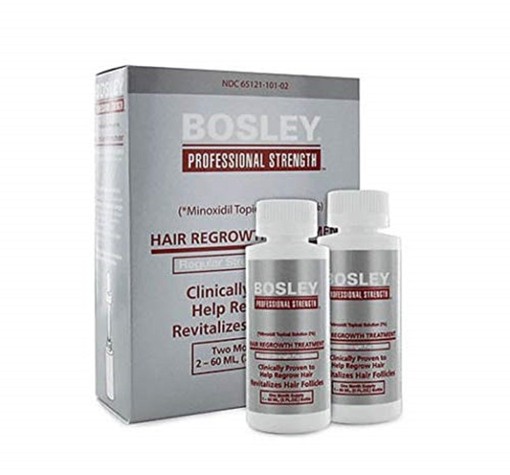 Bosley Hair Regrowth Treatment Minoxidil Solution 2% for Women 2 - 2oz Bottles