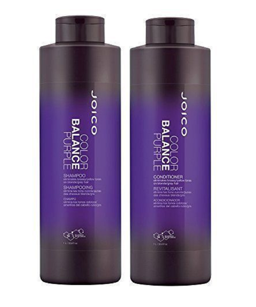 Joico Color Balance Purple Shampoo and Conditioner Duo  33.8 Oz