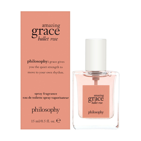 Amazing Grace Ballet Rose Philosophy  Women EDT Spray 0.5 oz