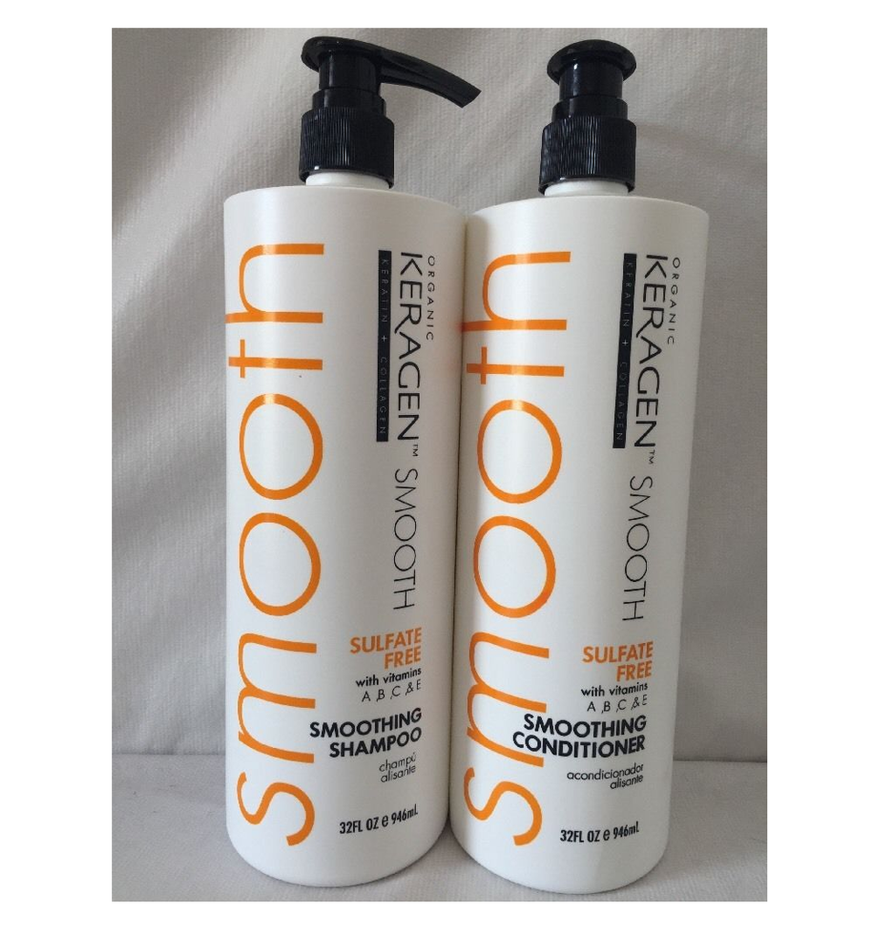 Organic Keragen Smoothing Shampoo And Conditioner 32 oz  Duo