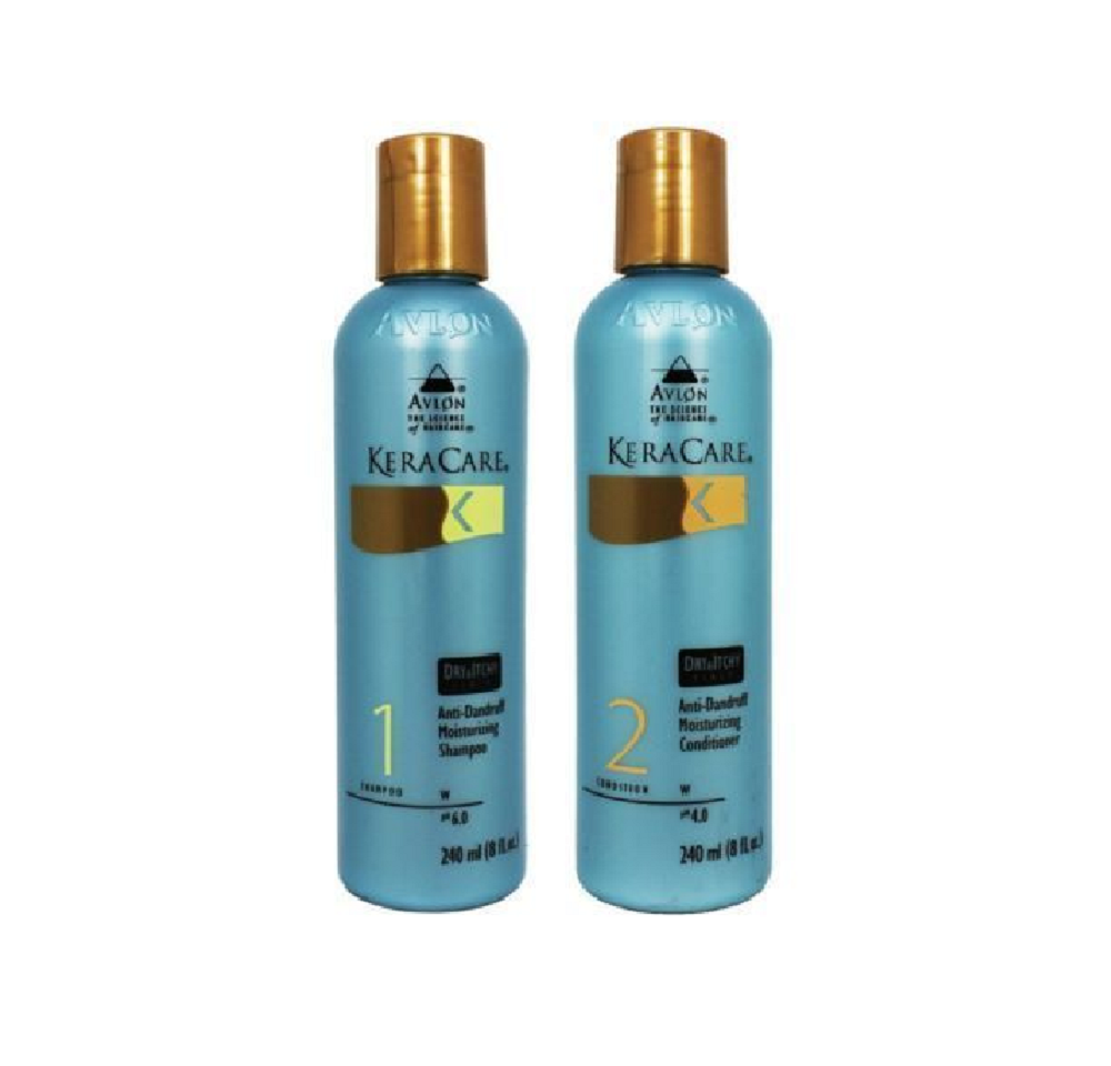 Avlon Keracare Dry Itchy Scalp Anti-Dandruff Shampoo & Conditioner 8oz Duo