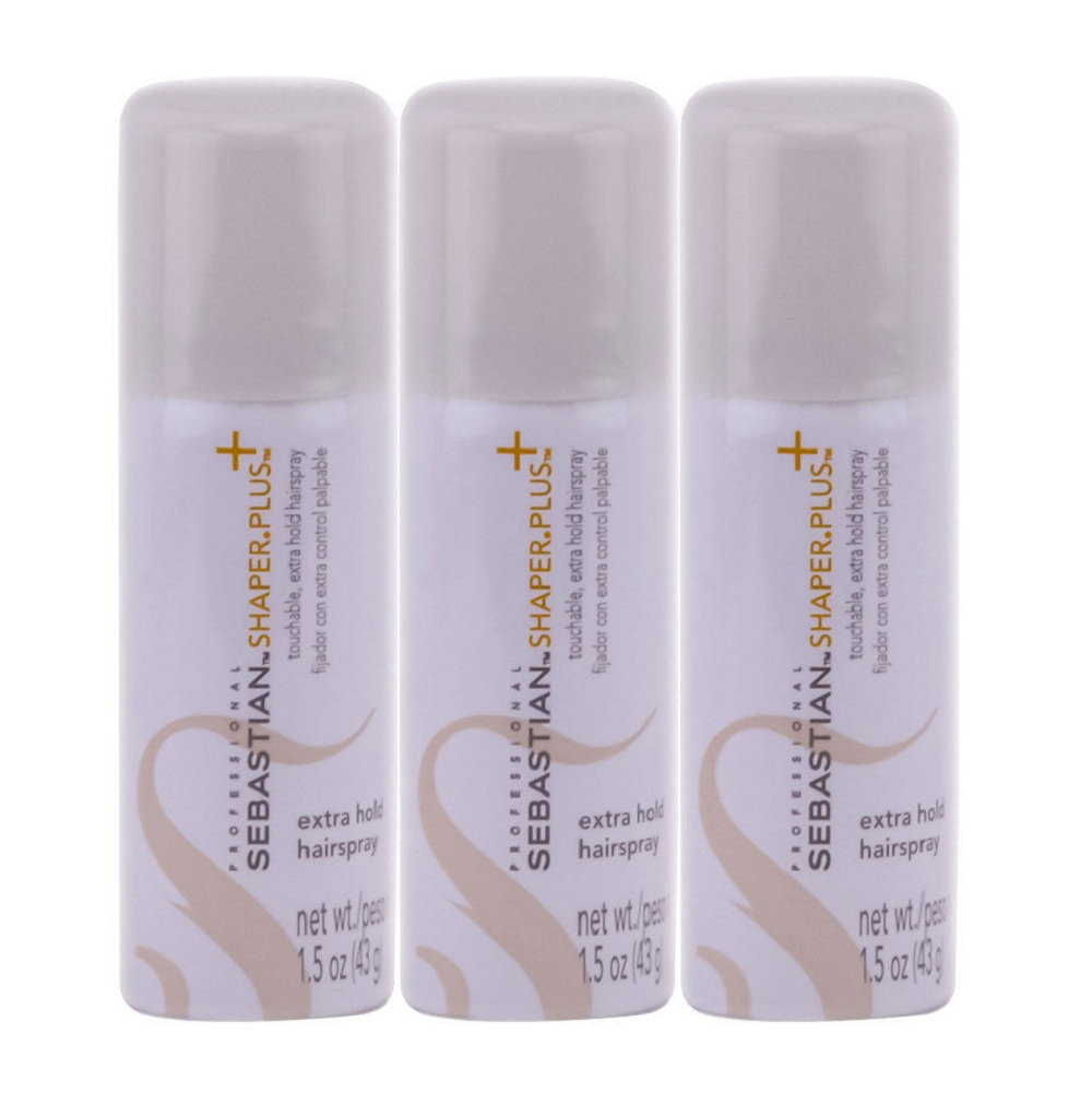Sebastian Shaper Plus Hair Spray for Unisex Travel Size 1.5 oz 3 Pack