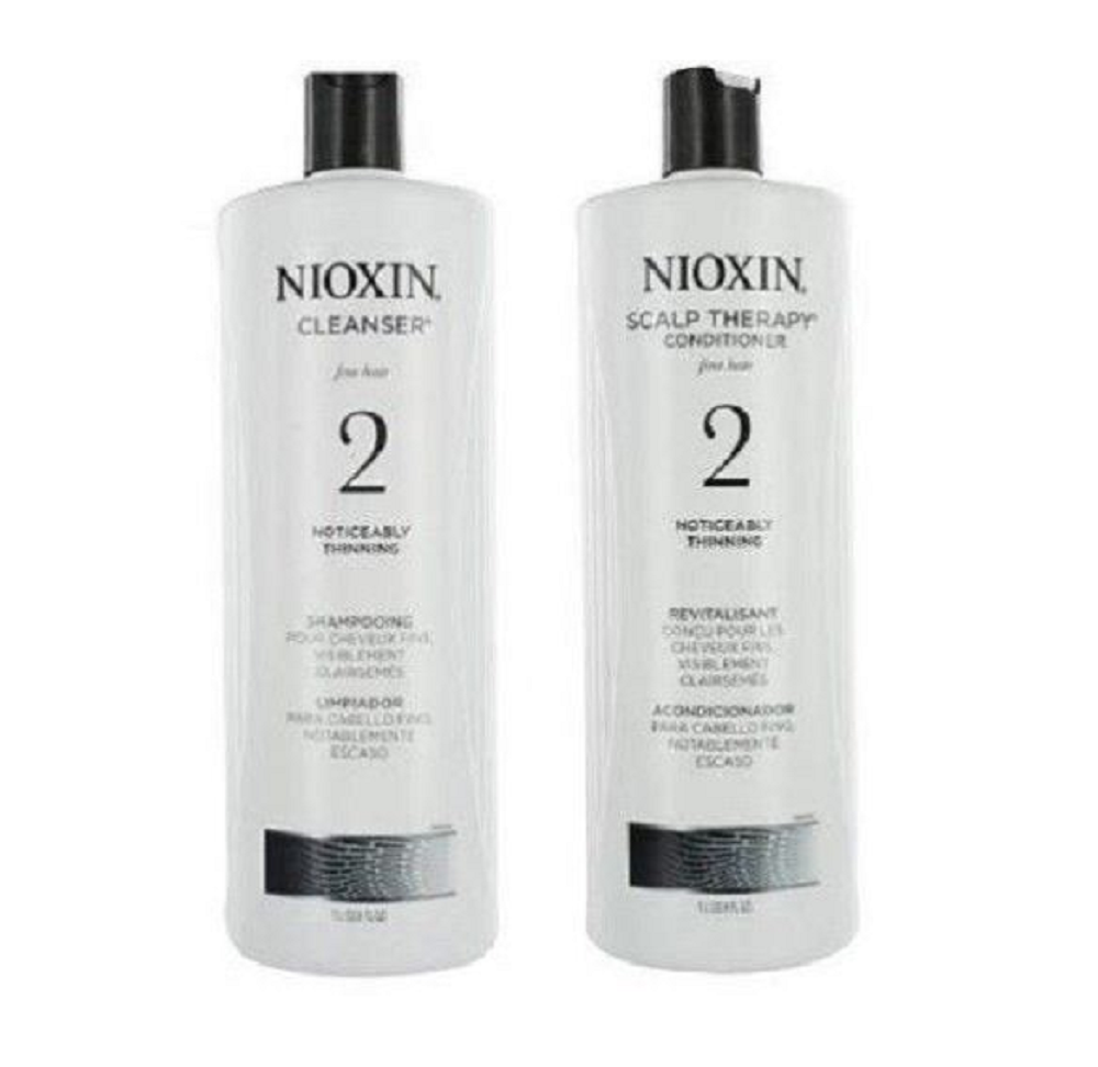 NIOXIN System 2 Cleanser & Scalp Therapy Shampoo & Conditioner Set 33.8oz each