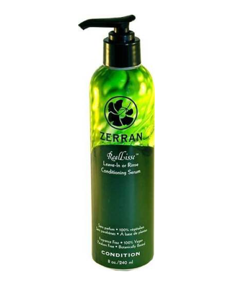 Zerran RealLisse Leave-In or Rinse Conditioning Serum 8 oz