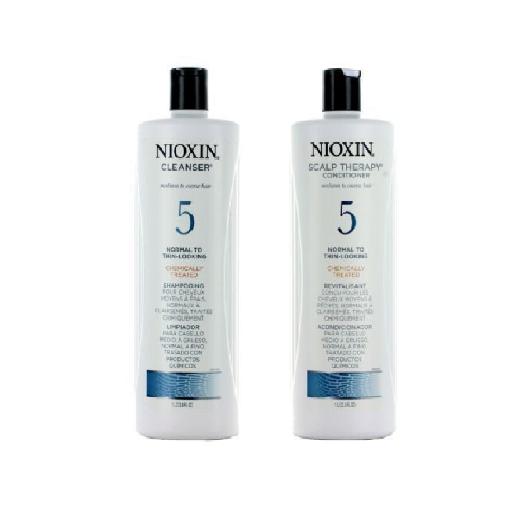 Nioxin System 5 Cleanser and Scalp Therapy Conditioner 33.8 oz Duo Set