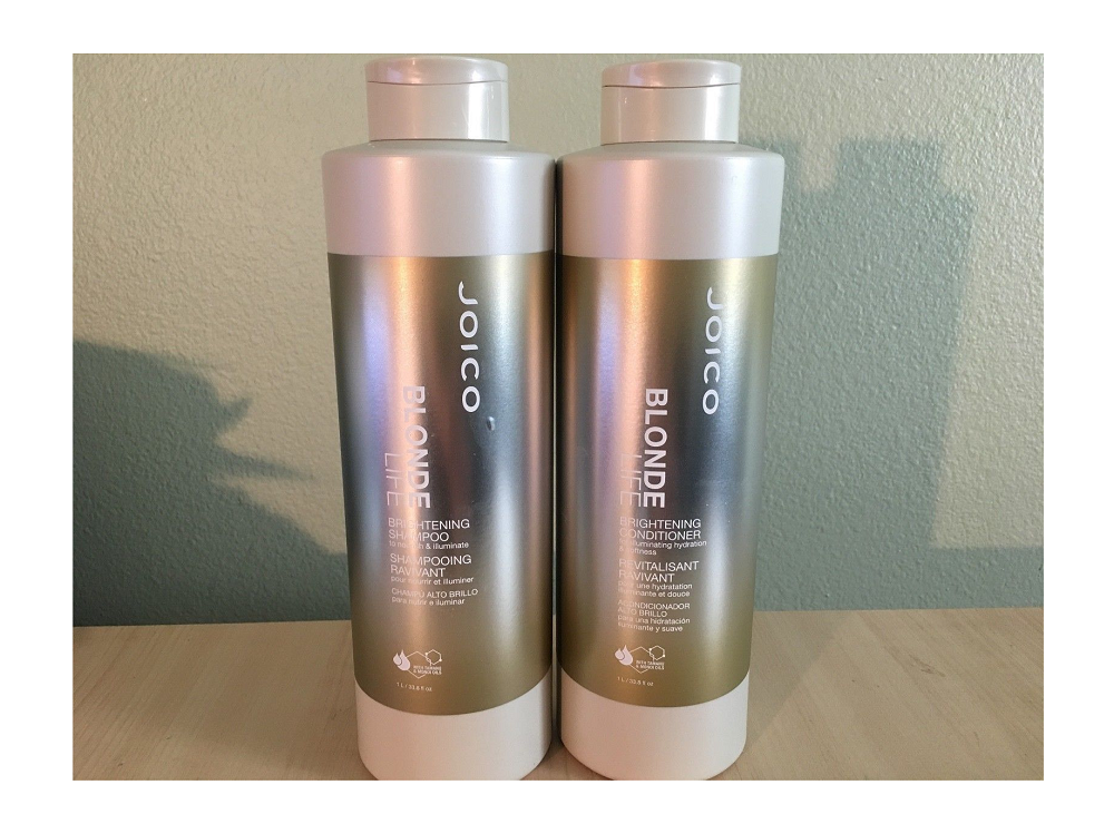Joico Blonde Life Brightening Shampoo and Conditioner 33.8 oz Liter Duo