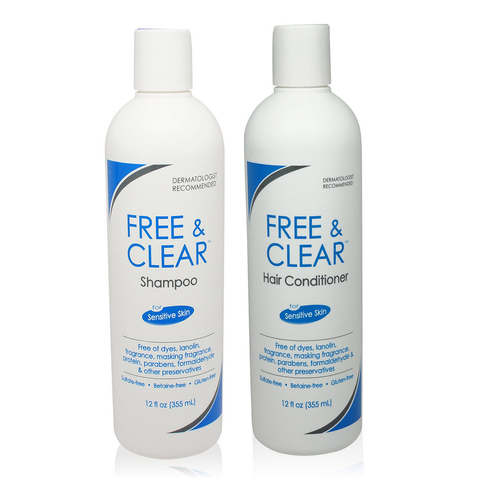 Free & Clear Set  Shampoo & Conditioner  12oz