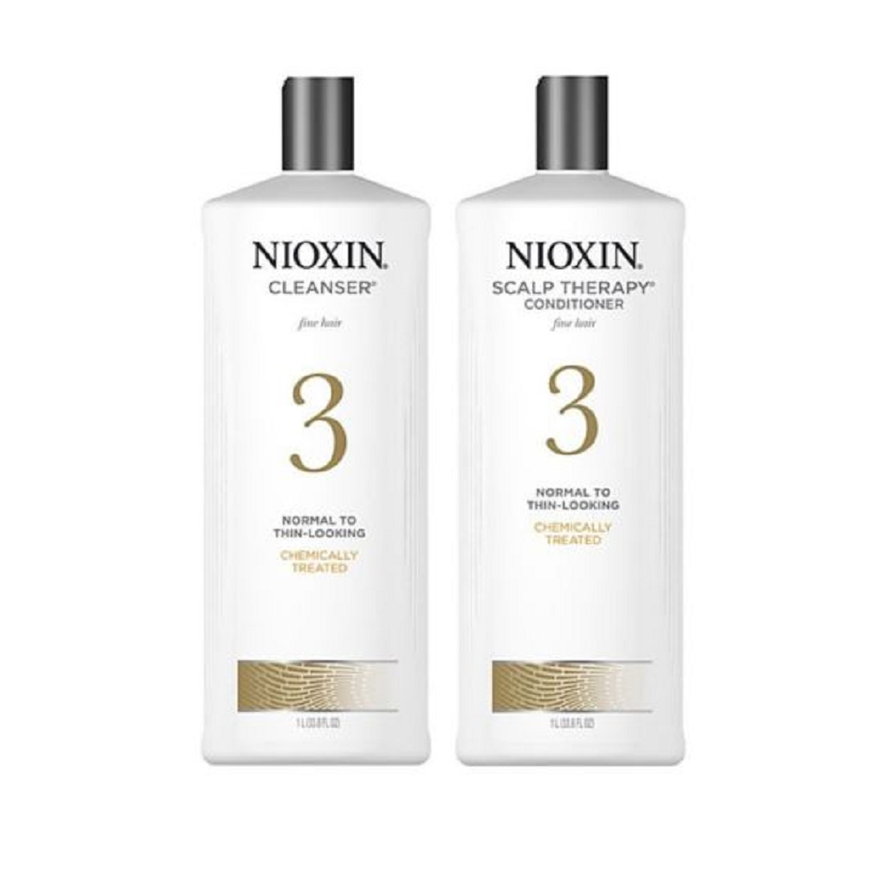 Nioxin System 3 Cleanser Scalp Therapy Duo Set Shampoo & Conditioner 33.8 Liter