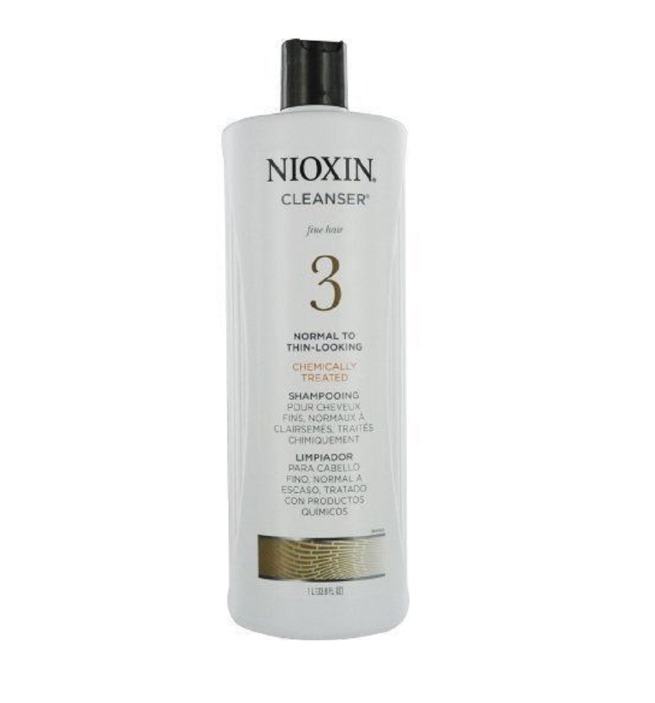 Nioxin Cleanser System 3  Fine Treated Normal to Thin-Looking 33.8 Ounce
