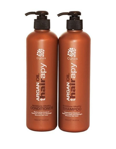 Cynos Argan Oil thairapy Moisture Vitality Shampoo & Conditioner 500 mL 16.9 Oz